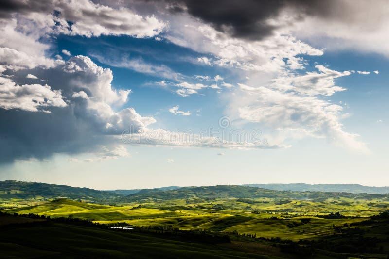 风景全视图在托斯卡纳,意大利 库存照片