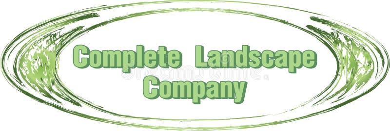 风景公司商标设计圈子品牌象征标签草坪割的关心维护 皇族释放例证