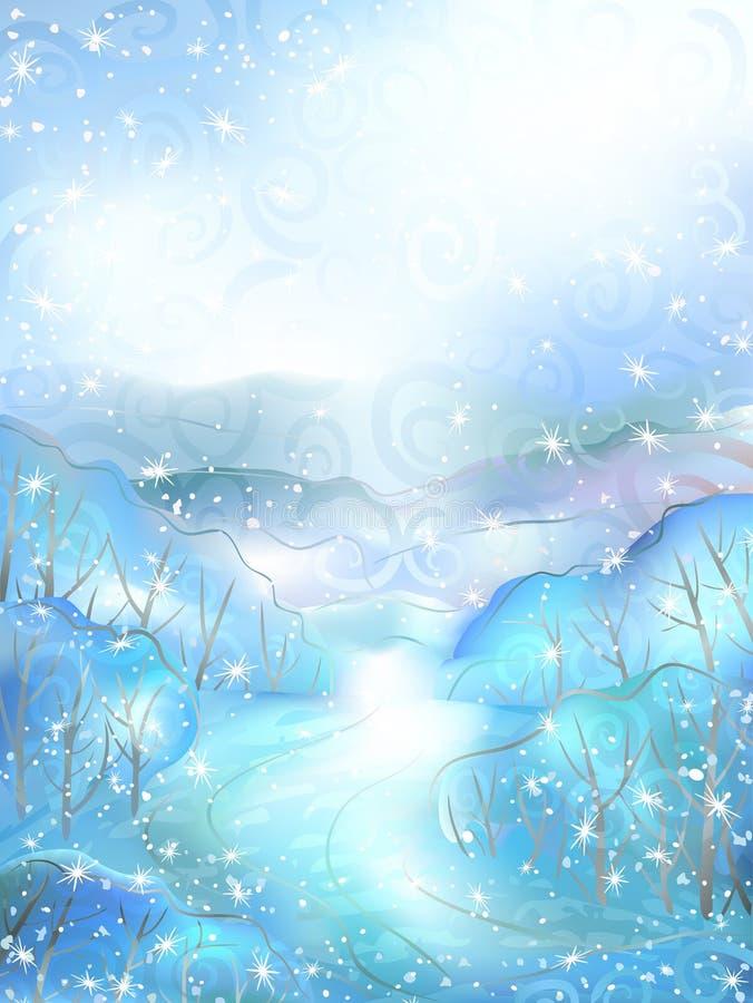 风景冬天 皇族释放例证