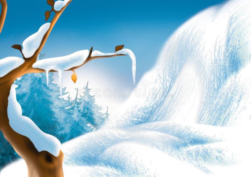 风景冬天 库存例证