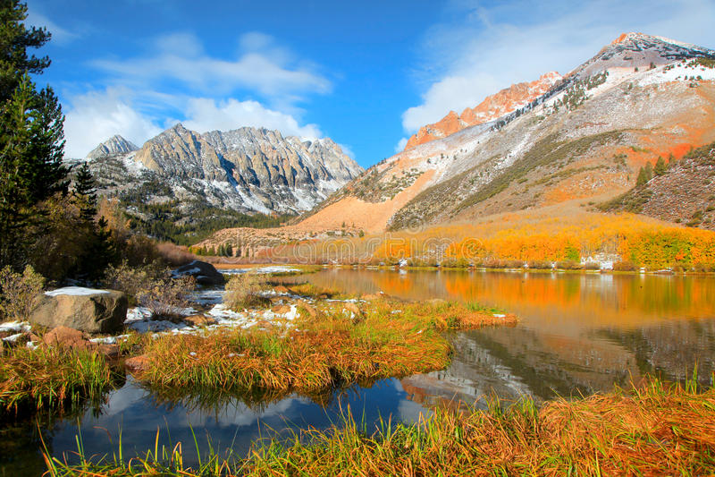 风景北部湖风景 免版税库存图片