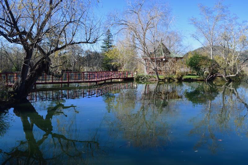 风景反射摄影在纳帕谷 免版税图库摄影