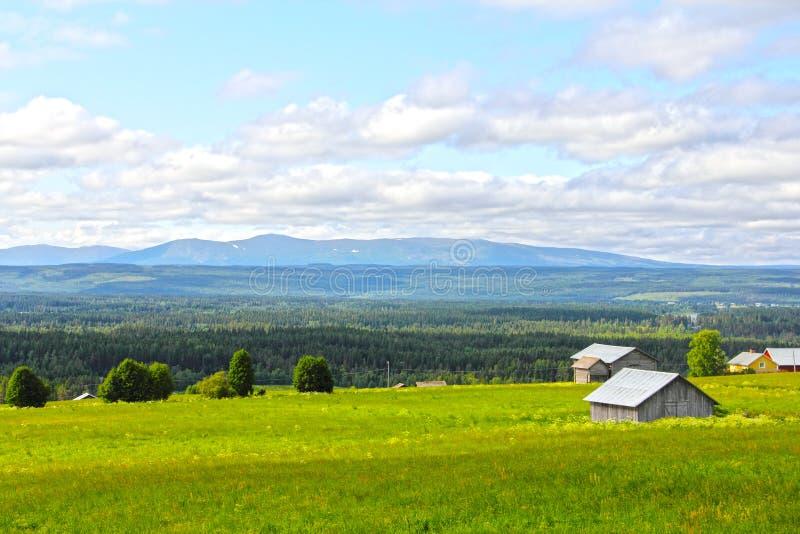 风景和村庄 图库摄影