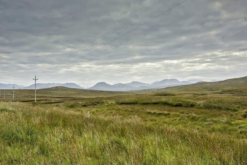 风景和海岸Connemara在爱尔兰 免版税库存照片