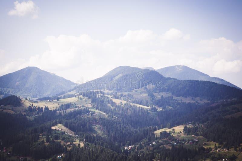 风景喀尔巴阡山脉 免版税库存图片