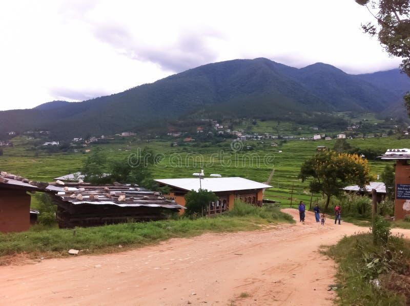 风景在不丹 库存图片