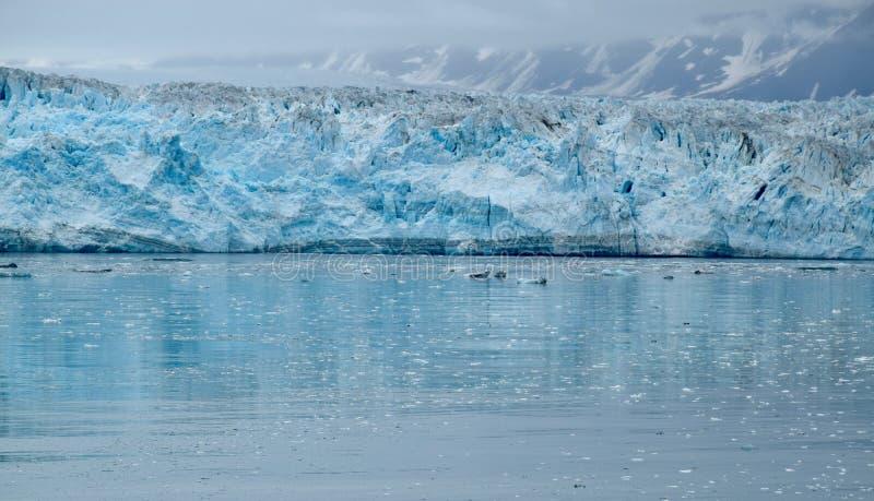 风景在哈伯德冰川,阿拉斯加,美国 图库摄影