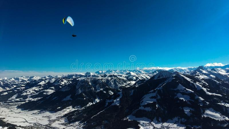 风景在奥地利阿尔卑斯 库存照片