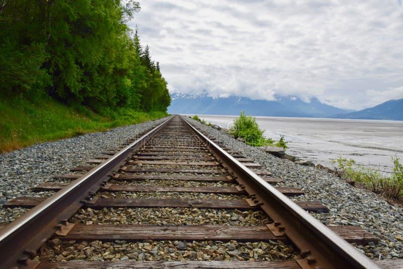 风景在安克雷奇,阿拉斯加,美国 免版税库存图片