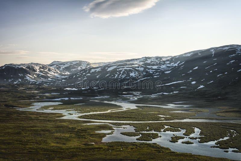 风景在拉普兰,瑞典 图库摄影