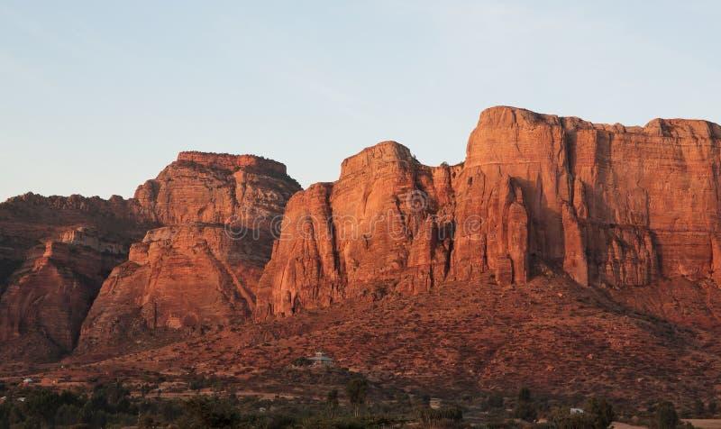 风景在提格雷省,埃塞俄比亚 免版税库存图片