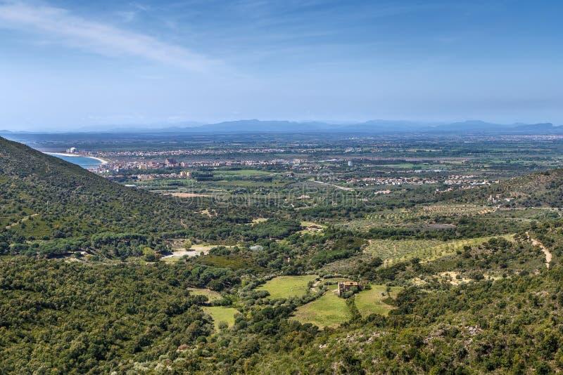 风景在玫瑰区域,西班牙 图库摄影