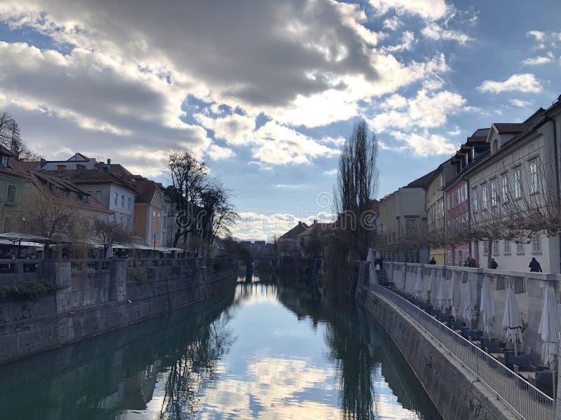风景在Romantik卢布尔雅那,斯洛文尼亚被采取 免版税库存图片