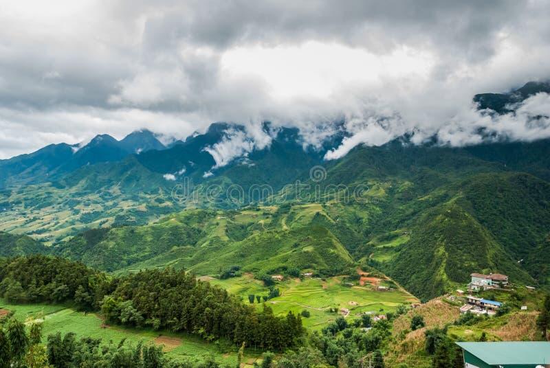 风景在Sapa,越南 免版税库存图片