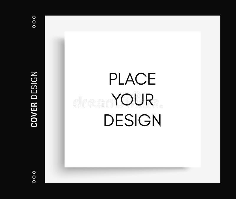 风景导向杂志或编目的大模型 纸页白色 做广告和增进消息的元素 3d 皇族释放例证