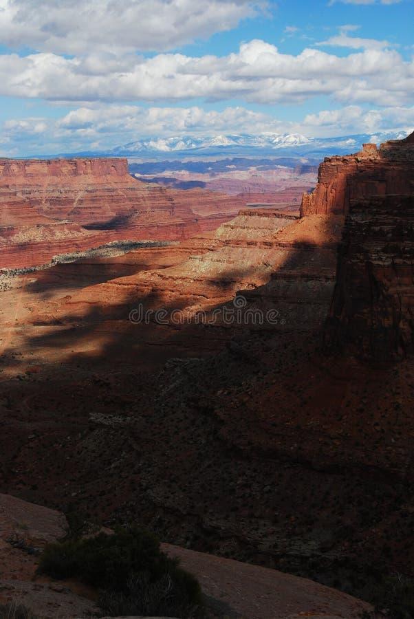 风景峡谷的沙漠 免版税库存照片
