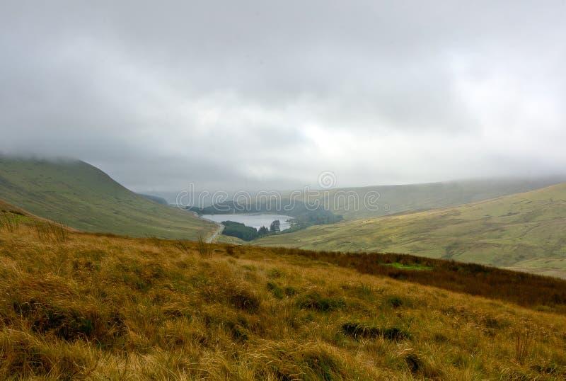 风景布雷肯比肯斯山,威尔士,英国 图库摄影