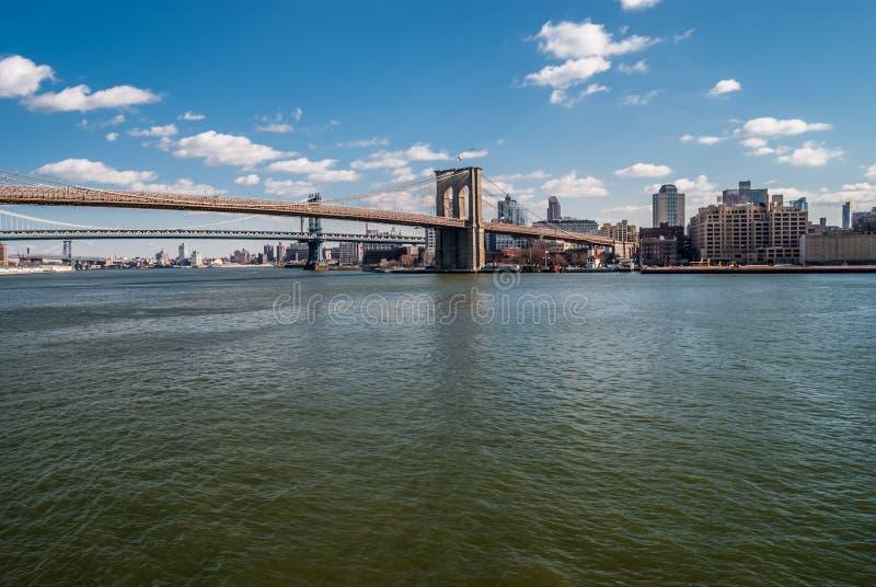 风景布鲁克林大桥 图库摄影