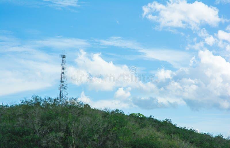 风景手机塔 库存图片