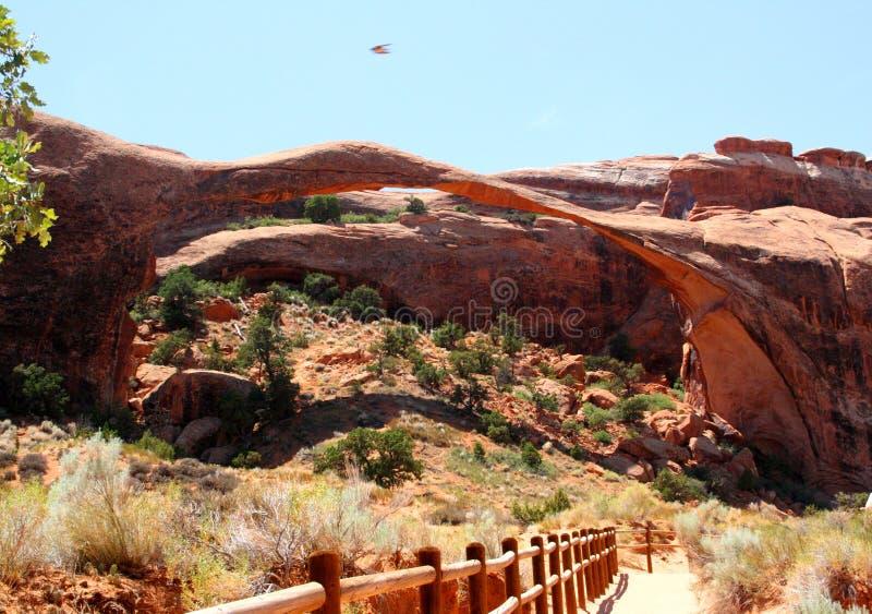 风景曲拱,在拱门国家公园,犹他 库存图片