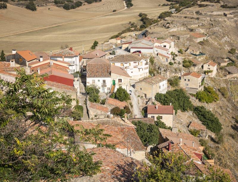风景有在Pelegrina村庄的一个看法 库存图片