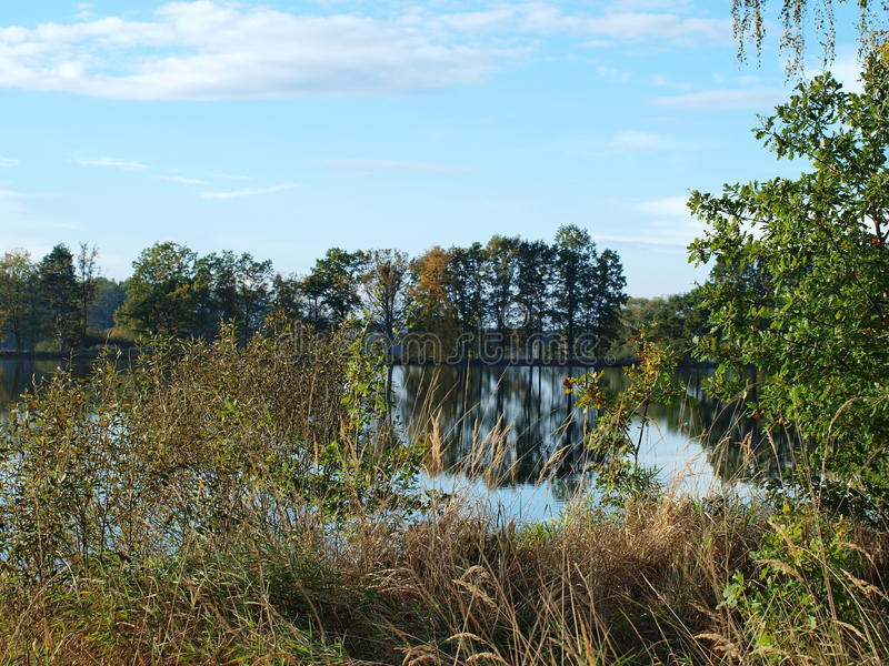 风景池塘,南波希米亚 图库摄影