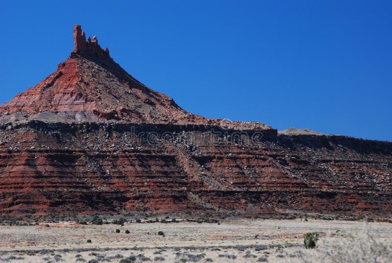风景沙漠的石峰 库存照片