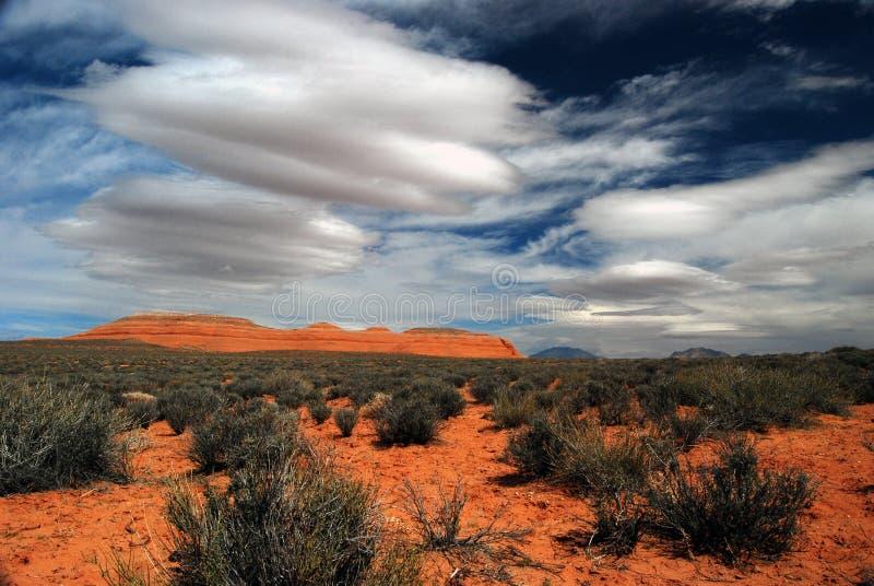 风景沙漠的mesa 图库摄影
