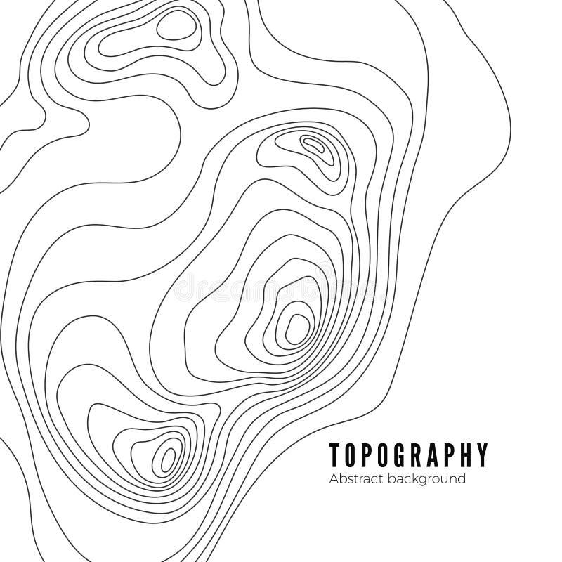 风景测量学地势地图线纹理 背景模式照片放置您文本的向量 向量例证
