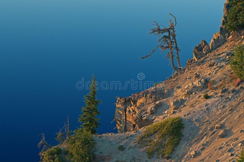 风景海岸陨石坑湖 图库摄影