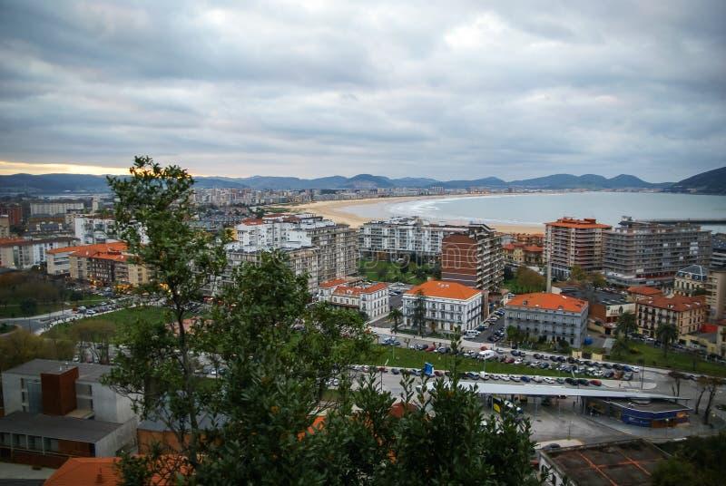 风景海景在拉雷多在坎塔布里亚,西班牙 免版税库存照片