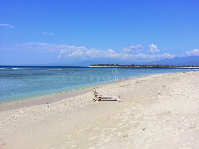 风景海滩在印度尼西亚 免版税图库摄影