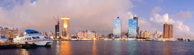 风景港口的全景 图库摄影