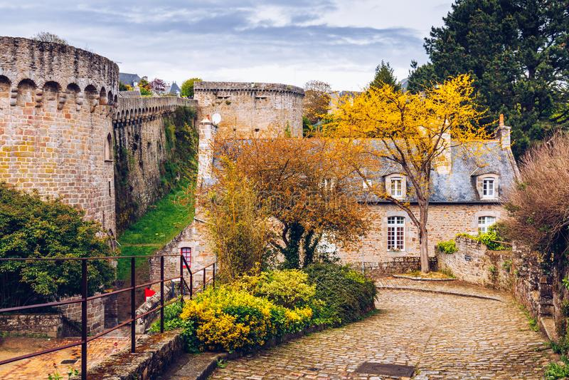 风景狭窄的胡同美丽的景色有历史传统的 库存照片