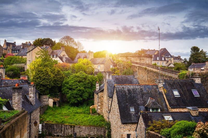 风景狭窄的胡同美丽的景色有历史传统的 免版税库存图片
