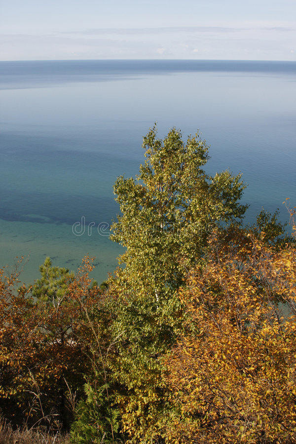 风景的密执安湖 免版税图库摄影