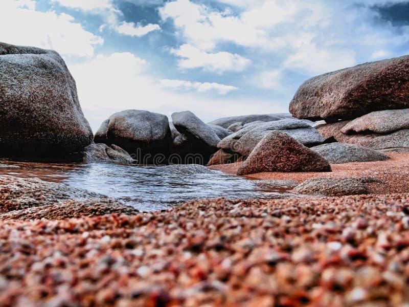 风景的海滩 库存照片