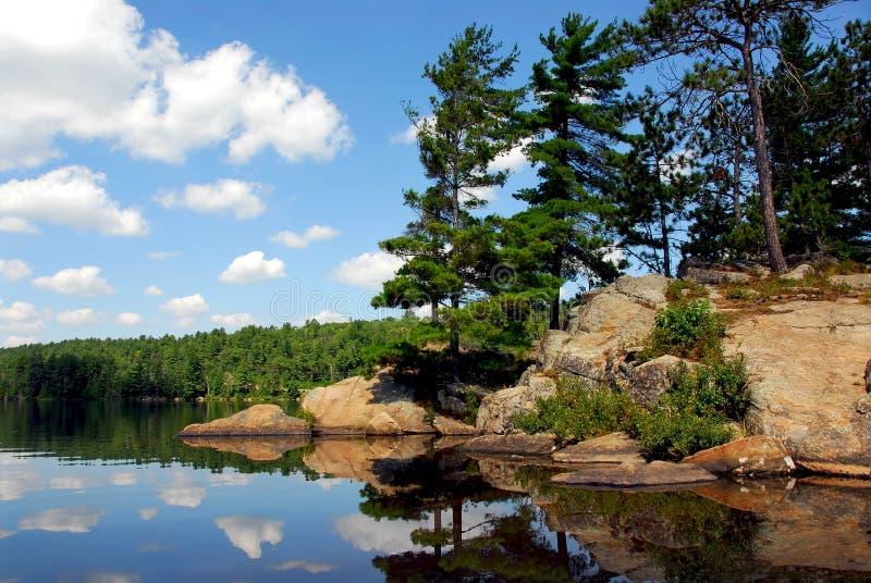 风景的湖 免版税库存图片
