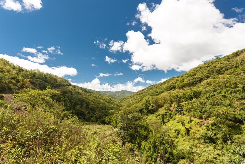 风景看法,奇恩角Stae,缅甸 图库摄影