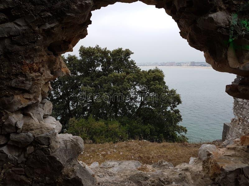 风景石墙 图库摄影