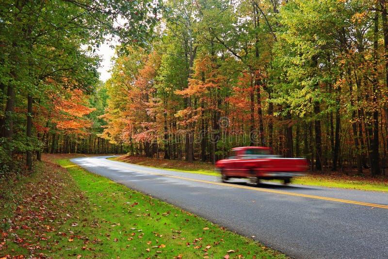 风景秋天的驱动器 免版税库存照片