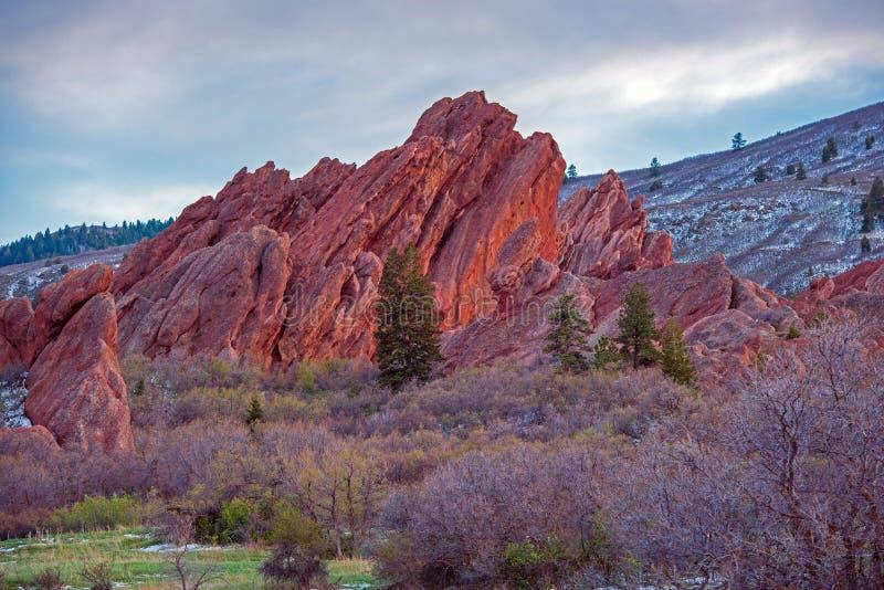 风景科罗拉多岩石 免版税库存照片