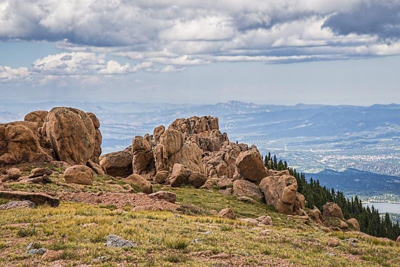 风景科罗拉多的落矶山脉 免版税图库摄影