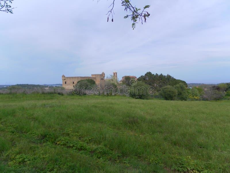 风景科西嘉人和城堡 库存照片