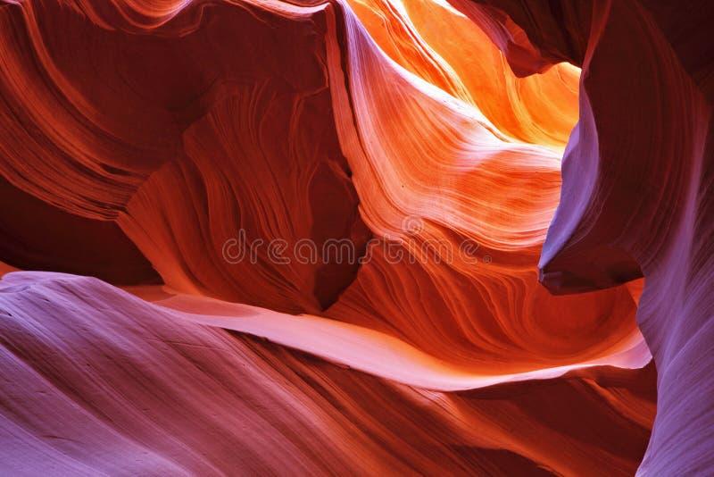 风景羚羊的峡谷 库存图片