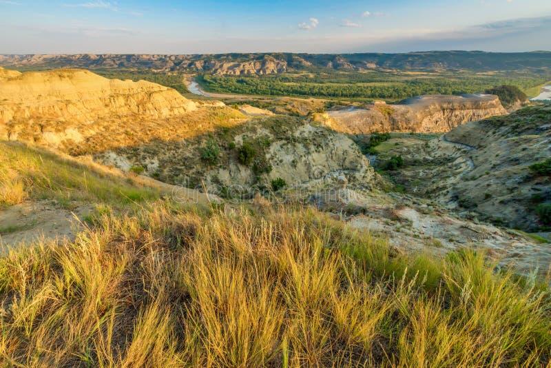 风景西奥多・罗斯福国家公园 库存图片