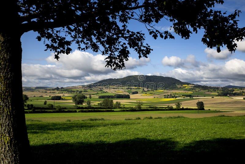 风景视图在Auverge,法国 免版税库存照片