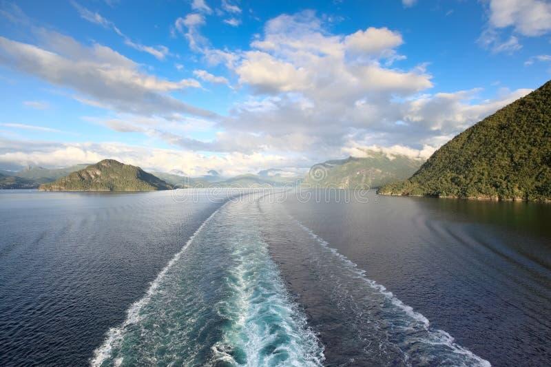 风景视图Geirangerfjord (挪威) 库存照片