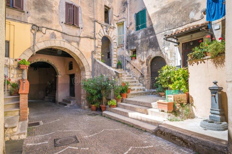风景视域在菲乌吉,弗罗西诺内,拉齐奥,中央意大利省  库存照片