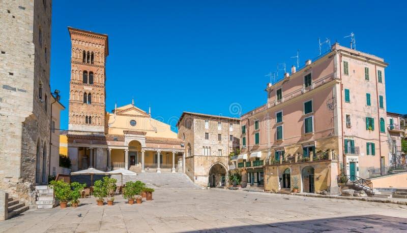 风景视域在Terracina,拉提纳,拉齐奥,中央意大利省  免版税库存图片
